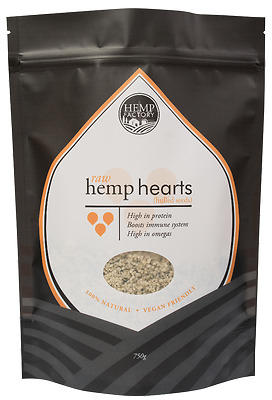 Hemp Seeds Raw Hulled (Vegan Friendly) (BULK) 750g