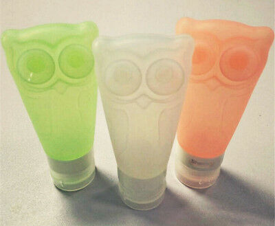 3 oz food grade silicone bottle with hanging holes & suction cup airline carry