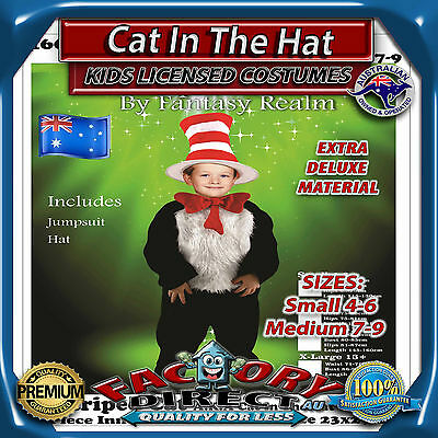 Dr Seuss Cat in the Hat Kids Accessory Kit By Elope Dress Up Costume Book Week