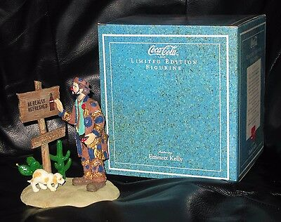 """Emmett Kelly Limited Edition Coca Cola """"496 Miles To Anywhere"""" Figurine 1995"""