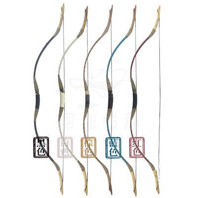5 Color Handmade Traditional Hunting Longbow Pigskin Recurve Horsebow 25-45lbs