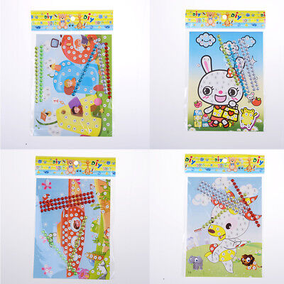 12X DIY Bling  Diamond Sticker Handmade Crysta Paste Painting Kids Craft HU
