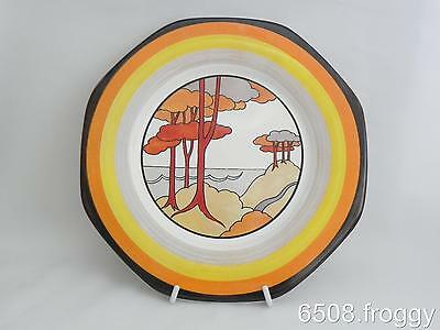 Wedgwood - CLARICE CLIFF - Fantasque Display Plate *CORAL FIRS* L/E Mint!