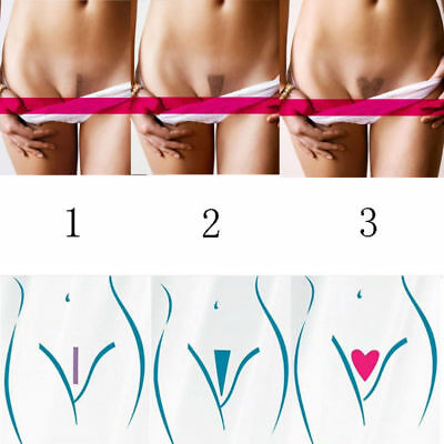 3 Shapes Bikini Privates Shaving Stencil Female Secret Intimate Hair Razor Kit