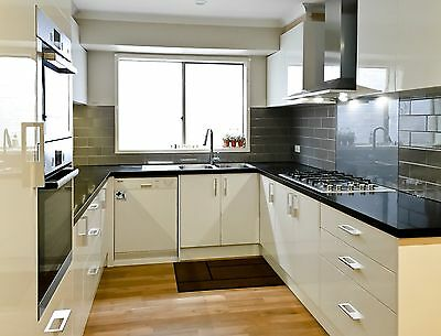 Kitchen cabinetry 2 pack high gloss white
