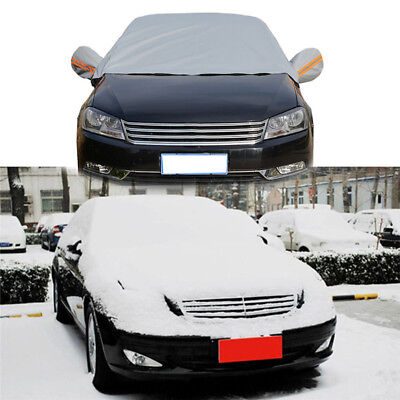 Half Car Cover Auto Waterproof UV Snow Rain Dust Resistant Outdoor Protector US