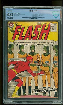 Flash #105 CBCS 4.0 DC 1959 1st Flash & Mirror Master! Like CGC! *restored*