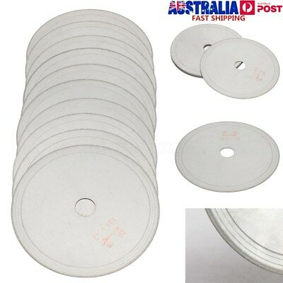 "10Pcs 6"" inch Super-Thin Diamond Lapidary Saw Blade Gems Cutting Disc Rim 0.017"""