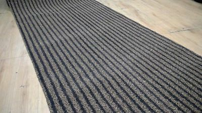 Outdoor Runner PVC, Marine Boat Carpet, Autex black/Brown lines 1mtr Wide Roll