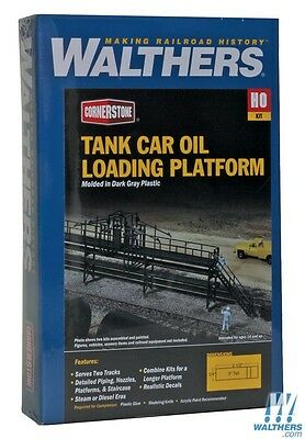 Walthers Cornerstone Ho Kit Tank Car Oil Loading Platform Wal9333104