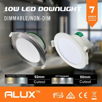 10W Led Downlight Kit Warm & Cool White & Satin Frame Dimmable & Non Dimmable 1