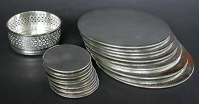 13 Vintage Retro Strachan Silver Plated Placemats Tumbler Bottle Coasters 77 77 Picclick Uk