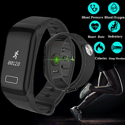 F1 Sports Blood Pressure Oxygen Heart Rate Fitness Smart Watch Wrist Band 2017