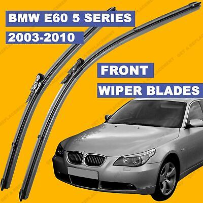 Pinch-Tab Front set Wiper Blade For For BMW 5 Series E60 E61 2003-2010 53-60 reg
