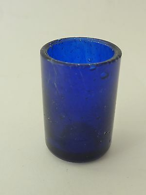VINTAGE COBALT BLUE glass SALT pepper POT LINER replacement part 4 silver shaker
