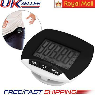 LCD Digital Pedometer Steps Distance Calorie Counter Fitness Monitor Belt Clip