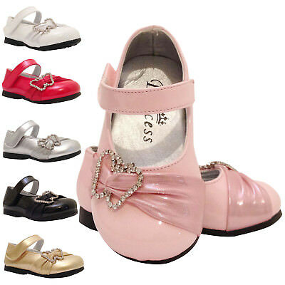 Baby Girls Christening Wedding Bridesmaid Party Shoes 9-12 12-18 18- 24 Months