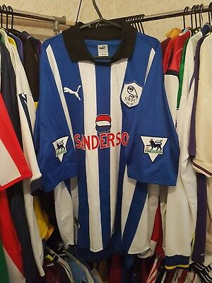 Sheffield Wednesday Football Shirt 1999/00 Home XL ~ Jonk 4