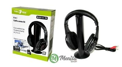 CUFFIE WIRELESS SENZA FILI PER TV / DVD / MP3 / Hi-Fi TEK ONE mod. S-99  +