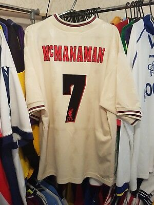 Liverpool Football Shirt 1996/97 Away Medium ~ McManaman 7