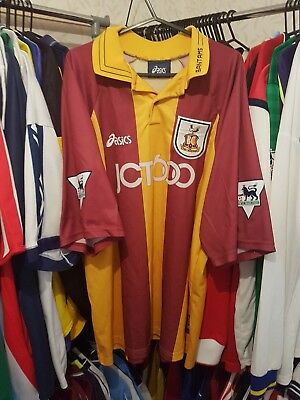 Bradford City Football Shirt 1999/01 Home XL ~ Carbone 10
