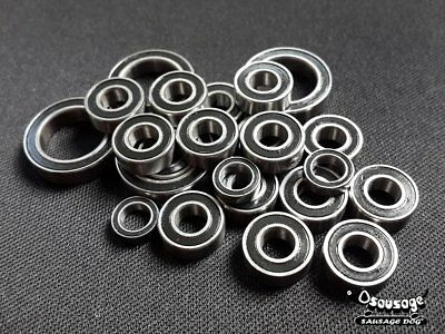 (Black)Double Metal Rubber Sealed Ball Bearing For Tamiya CW-01/CW01 (10pcs) Do