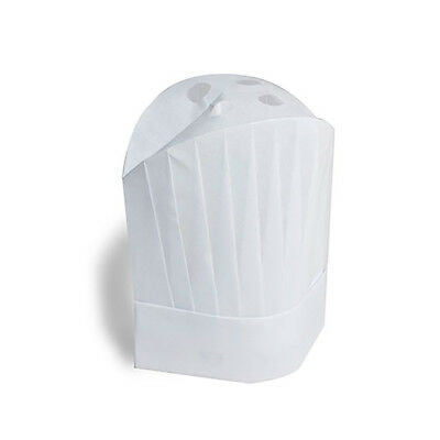 """Royal 12"""" Viscose Pleated Chef Hats """"Le Toque"""", Pack of 50, VCH12"""