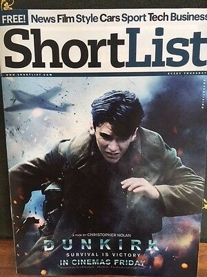UK Shortlist magazine July 2017 Fionn Whitehead - Dunkirk UK Cover