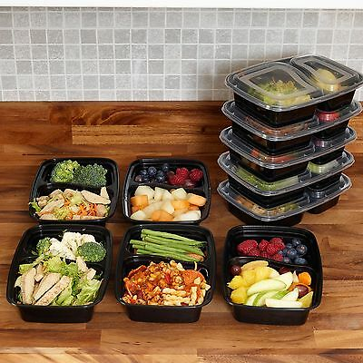 Meal Prep Food Containers BPA Free Plastic Lunch Box Lids Reusable Microwavable