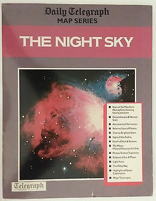 DAILY TELEGRAPH MAP SERIES: THE NIGHT SKY Large Poster Guide Astronomy Space