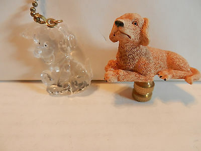 Golden Retriever Fan and Light Pull + Lamp Topper 2 Pieces