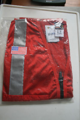 Kiewit Work Safety Vest Red With Silver Stripe Mens 2Xl Class 2/ Level 2