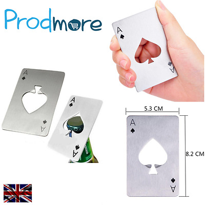 Prodmore Poker Card Beer Bottle Opener, Stainless Steel Credit Card Size