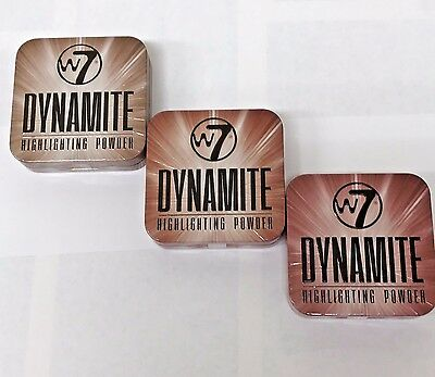 W7 Dynamite Highlighting Powder In Tin. 3 Shades Available. Choose Yours X