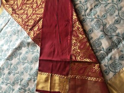 Indian Banarasi Sari / Kanchipuram /  Fancy Bridal / Katan Silk Saree 1002