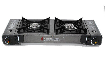 Camping Gas Stove Single / Double Burner Portable Cooker Butane BBQ Outdoor