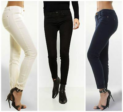 ZARA Slim Leg Low Rise Jeans in Navy Cream or Black | SALE | RRP £30