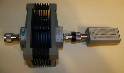 Clean Agilent HP 8481B Power Sensor with 8498A 30dB Attenuator Fully tested!