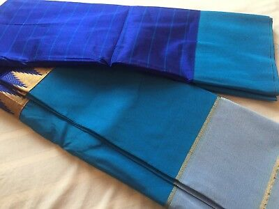 Indian Kanchipuram Bridal Sari/Fancy/ Katan/GadwaI Silk Saree 1007