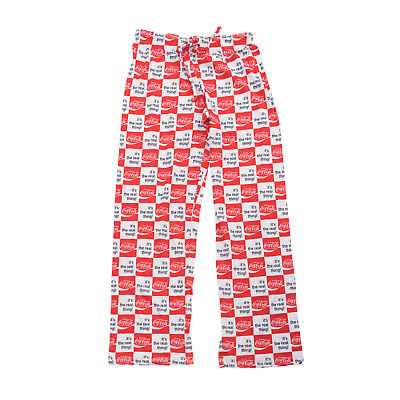 Coca-Cola It's the Real Thing Lounge Sleep Bottom Pajamas Pants Sleepwear COKE