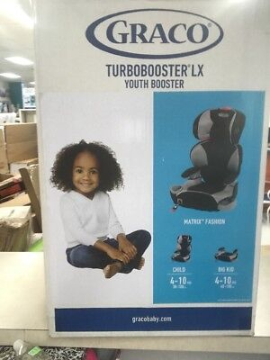 BRAND NEW Graco Turbobooster LX Youth Booster, Matrix Fashion, Model 1965983