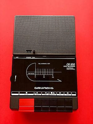 GRUNDIG CR 100 a Data Recorder MC Cassetten Rekorder 80 Player o OVP Full Speed