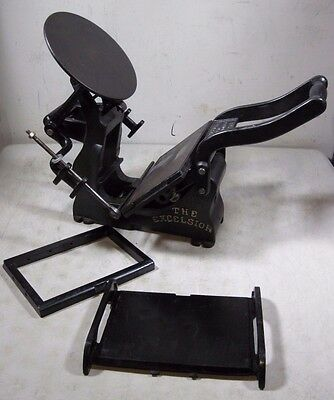 Antique Late 1800's Kelsey & Co 5x8 The Excelsior Cast Iron Printing Press USA