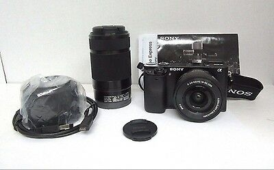 Sony Alpha A6000 Mirrorless with 16-50mm 55-210mm OSS Lenses, Black