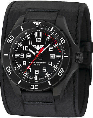 KHS Tactical Watches German Military Police Watch C-1 Light Leather Power-Band