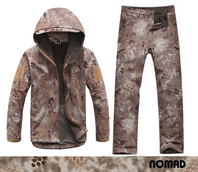 NOMAD Softshell SharkSkin Waterproof Fleece Jacket Pants TAD Kryptek Hunting