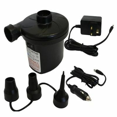 12V 2 In 1 Electric Air Pump Bed Dingy Camping Pump Inflater With Nozzles Pu104