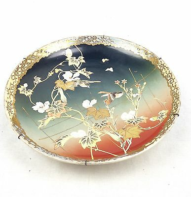Antique Charger Plate Asian Design Large Oriental / Japanese Unusual