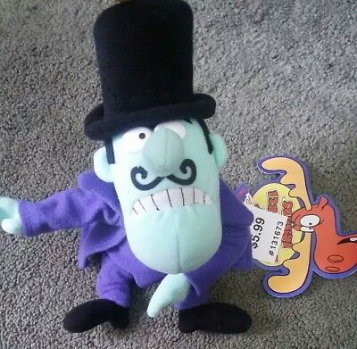 """Snidely Whiplash 1999 CVS 6"""" Rocky and Bullwinkle and Friends w/ tag"""