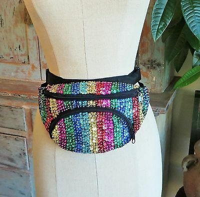 Fanny Pack Sequin Fanny Pack Rainbow Glitter Fanny Pack Plus Size Xxl Fanny Pack
